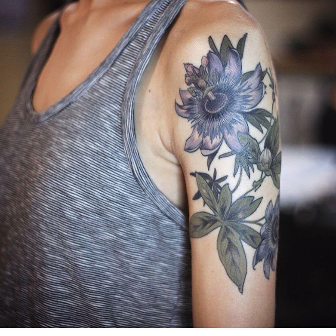 Botanical Passion Flower By Alice Carrier Alicerules Tattoos Fruit Tattoo Flower Tattoo Sleeve