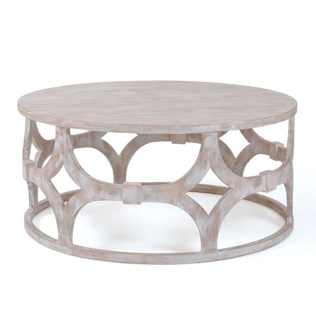 Breezy Round Coffee Table Coastal Cottage