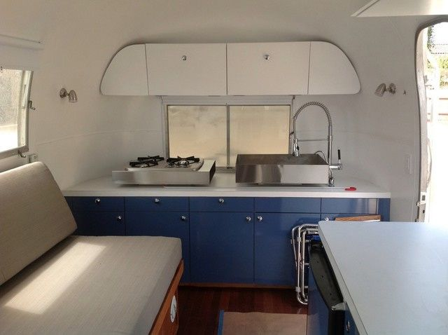 Closet Crafters Blue Airstream Kitchen