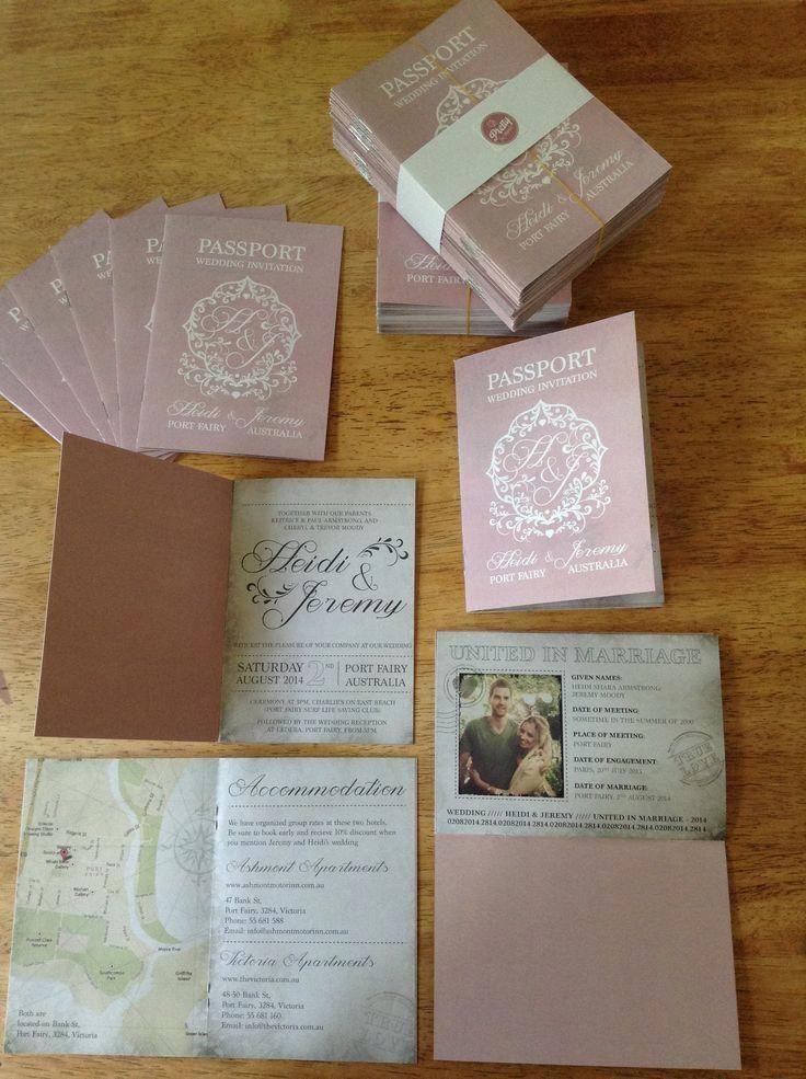 I love the passport idea for an invite wedding