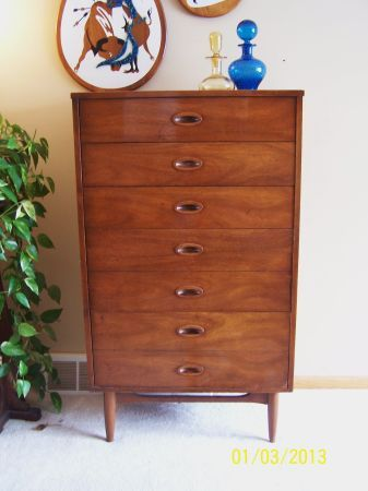 Minneapolis: Mid Century Modern Danish Highboy Dresser By Dixie $100    Http://