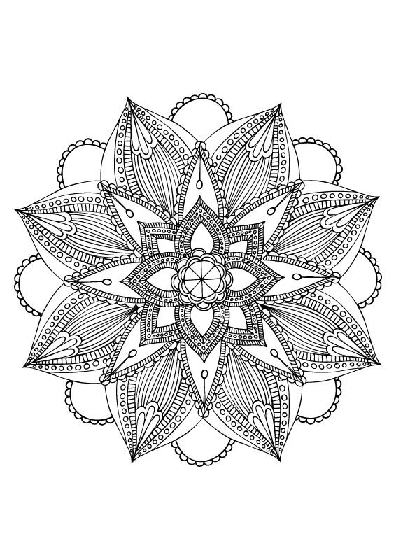 mandala coloriage coloriage pinterest coloriage mandalas et coloriage pour adultes. Black Bedroom Furniture Sets. Home Design Ideas