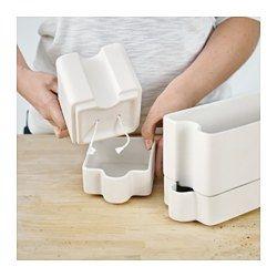 SÖTCITRON Self-watering plant pot, white - IKEA #selfwatering