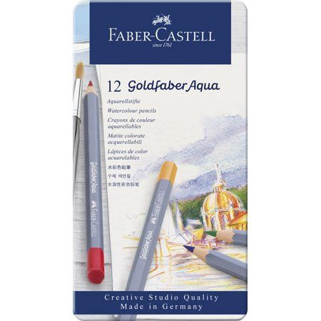 Goldfaber Aqua Watercolor Pencils Tin Of12 Products In 2019