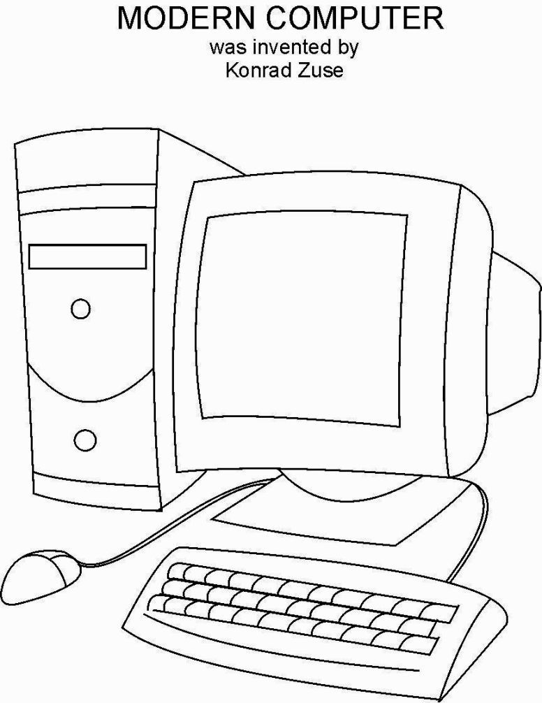 Coloring Pages On Computer | Computer drawing, Computer ...