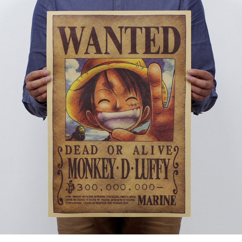 One Piece Luffy Wanted Poster, 51x35cm \/\/Price $899 \ FREE - create a wanted poster free