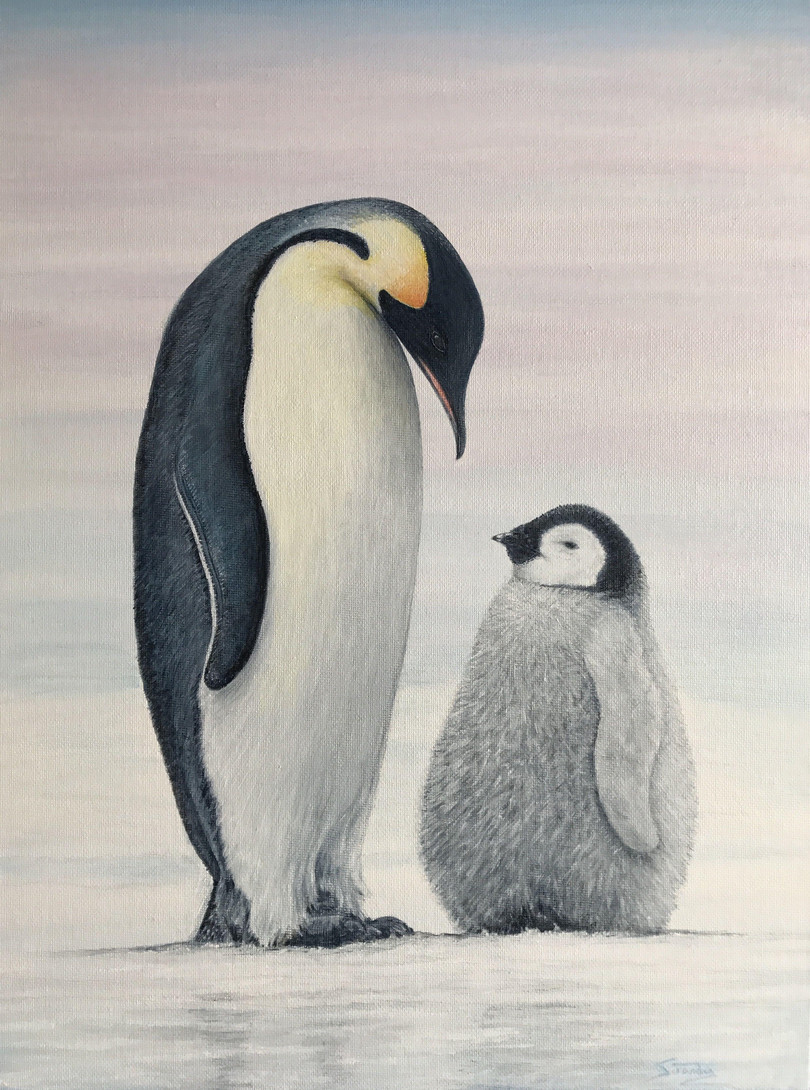 пингвины на картинах художников использованию