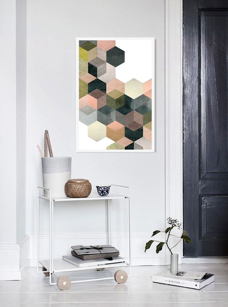 Great 04 Hexagon Wall Art That You Can Make Yourself   Shelterness