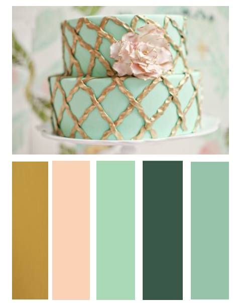color palette mint pink gold - Green And Gold Color Scheme