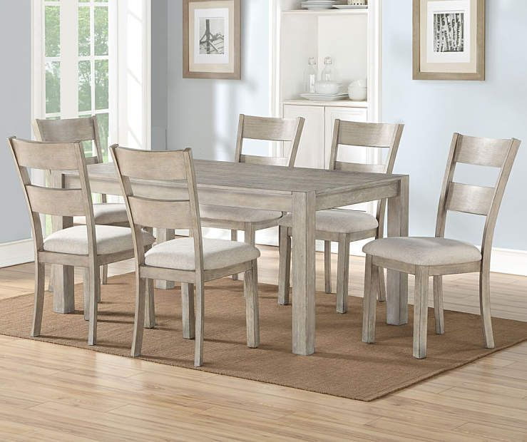 Stratford Hayden Gray 7 Piece Dining Set Big Lots Dining Room Sets Dining Table Chairs Grey Dining Tables