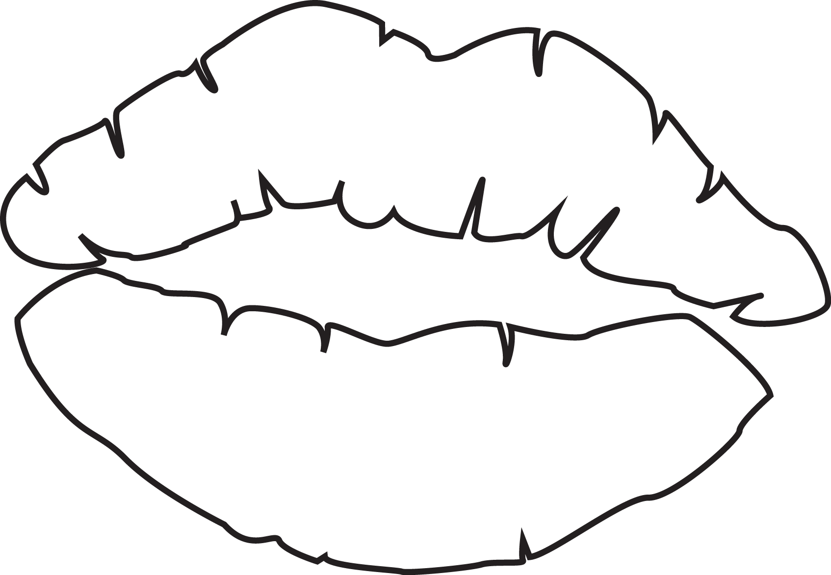 It is an image of Juicy Lips Outline Drawing