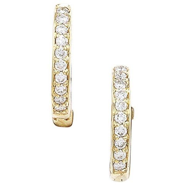 London Road 9ct Gold Diamond Demi Hoop Earrings 7 020 ZAR