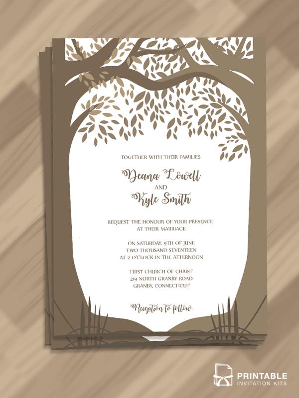 Free Editable And Printable PDF Wedding Invitation Template