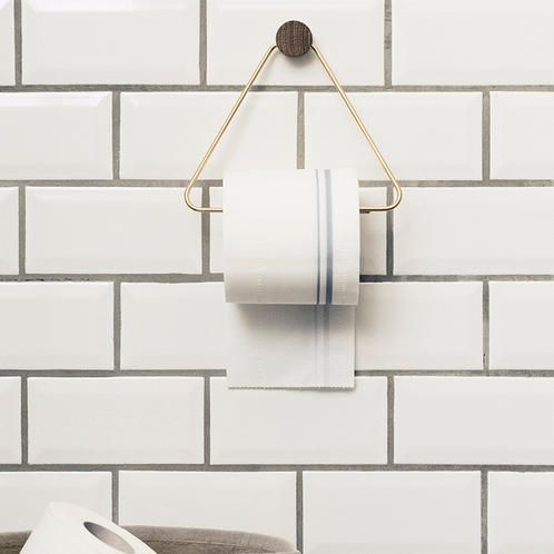 The Brass Toilet Paper Holder By Ferm Living Is Both Beautiful And  Functional The Perfect Accessory For Any Bathroom. Materials:Brass, Solid  Oak ...