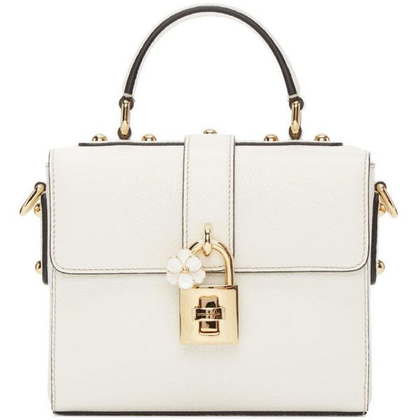 650993a080 Dolce and Gabbana White Small Dolce Soft Bag ( 1