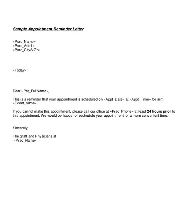 doctor appointment letter template free samples examples format job ...