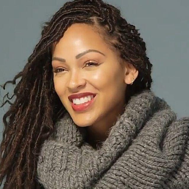 Meagan Good Faux Locs Brown Sista Goddess Braids Pinterest