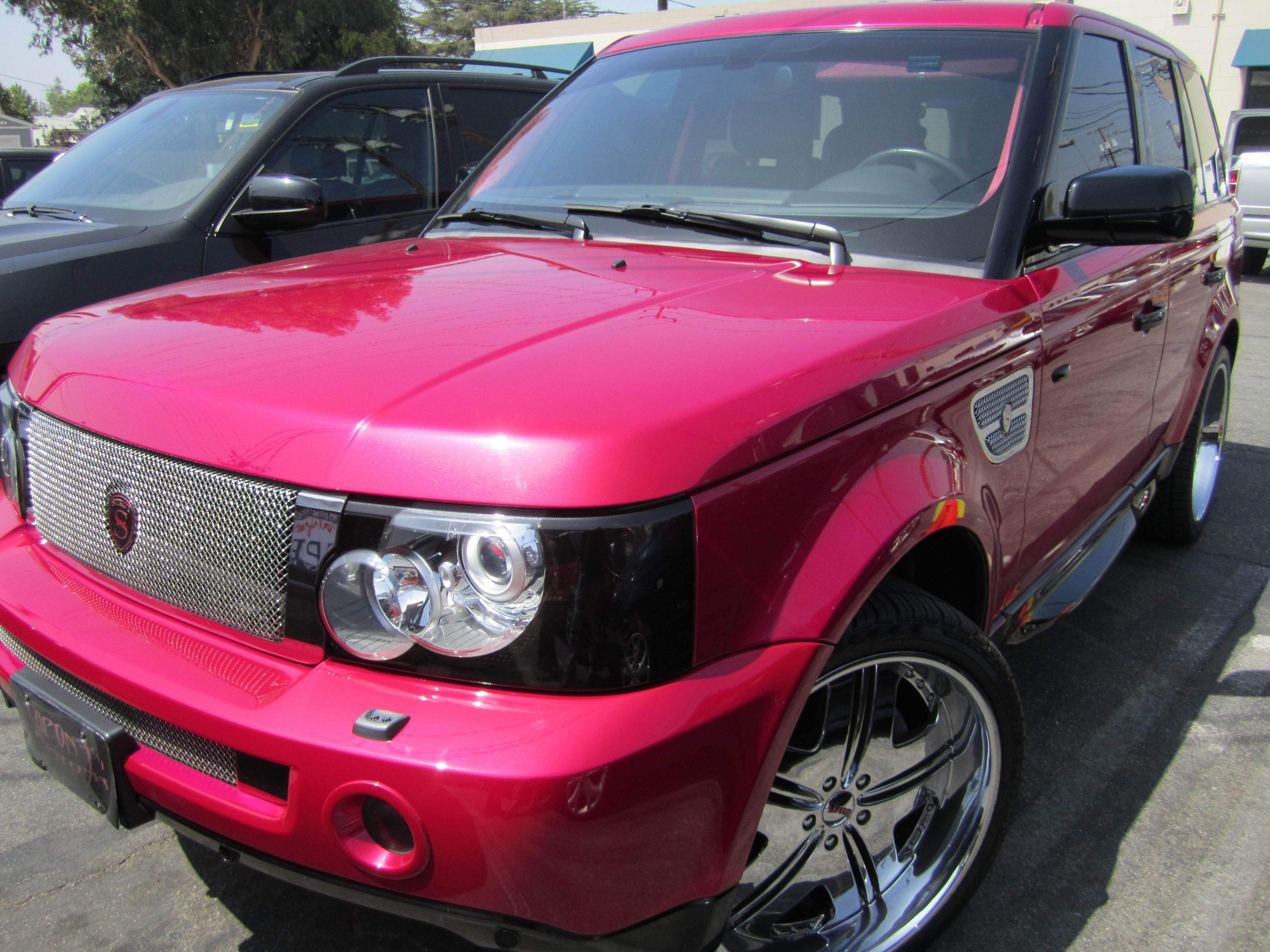 LaLa Anthony's Pink Range Rover #rangerover #pinkrangerovers LaLa Anthony's Pink Range Rover #rangerover #pinkrangerovers