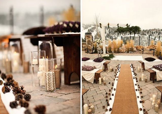 Beautiful Outdoor Winter Wedding Bring It Inside