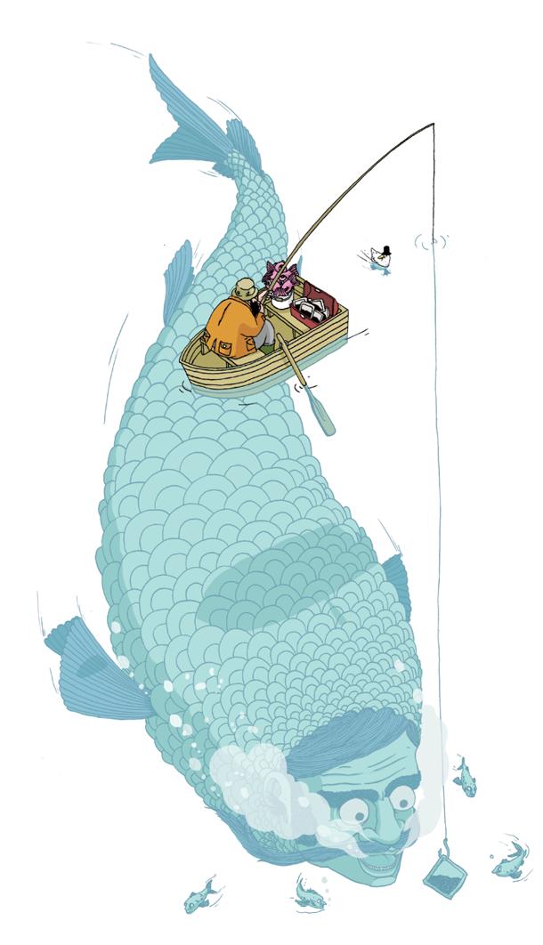 fishing by Chris Martin