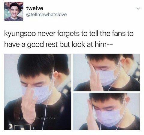 have a good rest kyungsoo...   EXO   EXO, Exo memes, Kpop exo