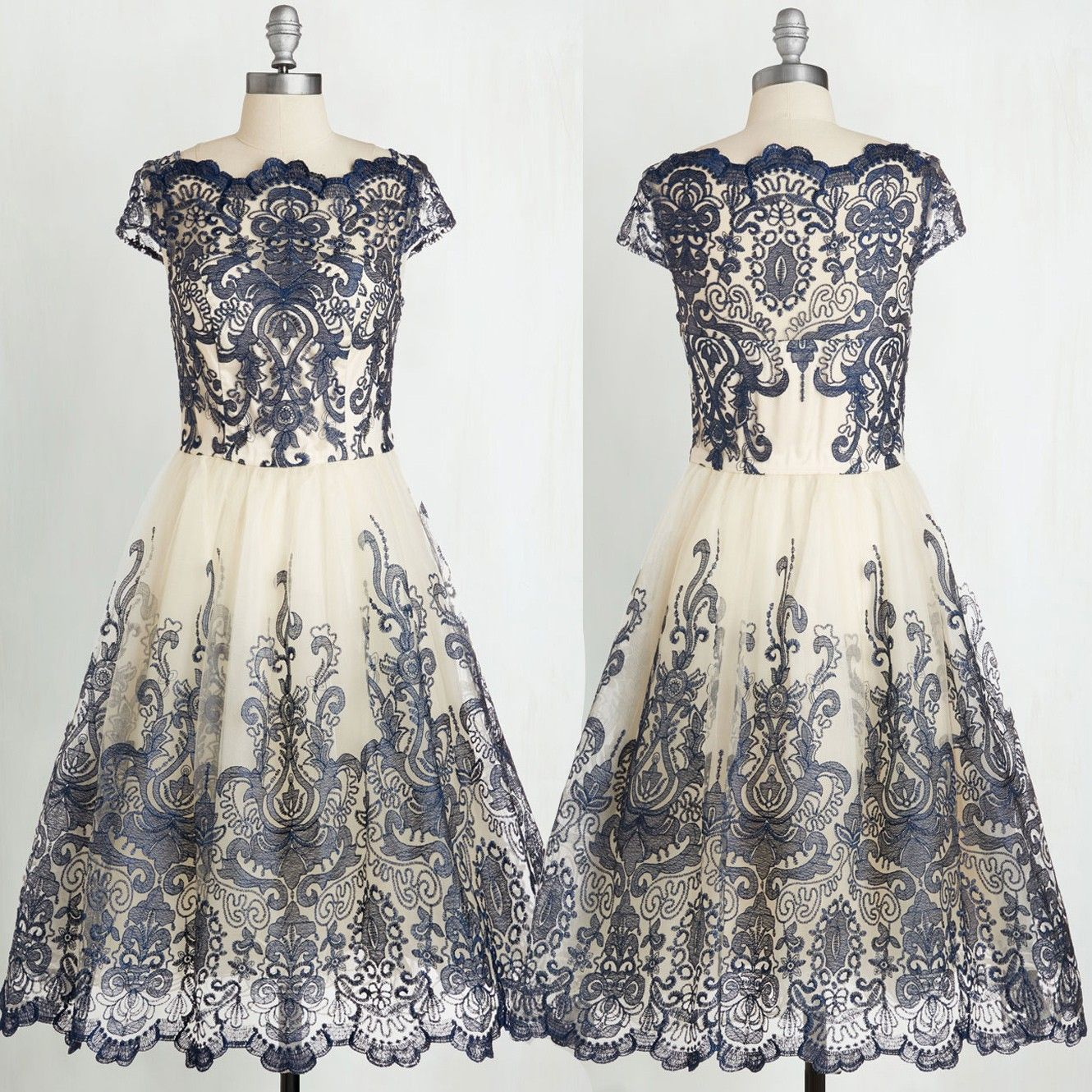 New arrival vintage ball gown prom dress with lace homecoming