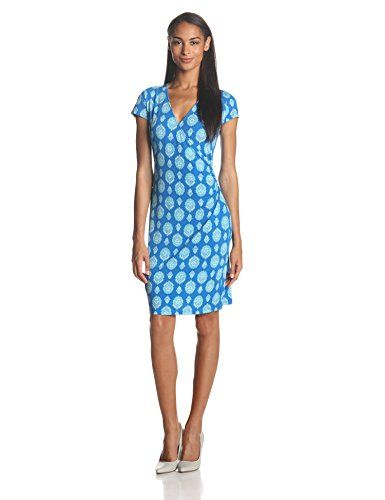 Jones New York Women's Cap Sleeve Faux Wrap Dress, Cove Blue Combo, Medium Jones New York http://www.amazon.com/dp/B00KBJ5YLK/ref=cm_sw_r_pi_dp_YPWVtb15FK9S8ZVJ