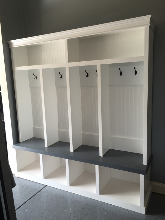 Entryway Locker 4 Cubby Mudroom By Cmpfurniture On Etsy