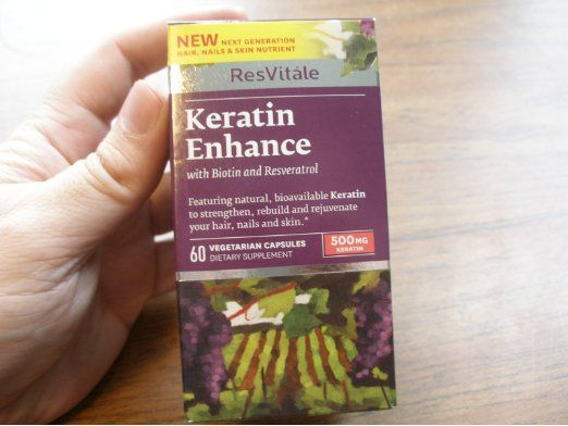 Resvitale Keratin Enhance 500 Mg 60 Vegetarian Capsules