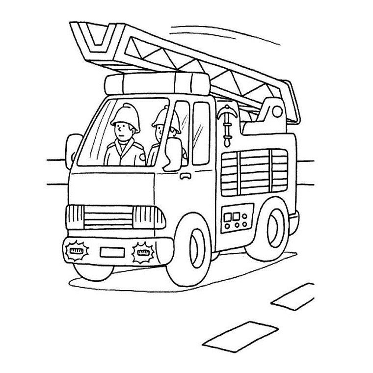 Coloriage Camion Pompier A Imprimer Gratuit Ecole Projet