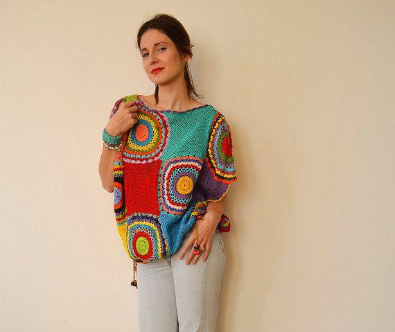 Women's Sweater Vest - Crochet ,Light Silky Yarn