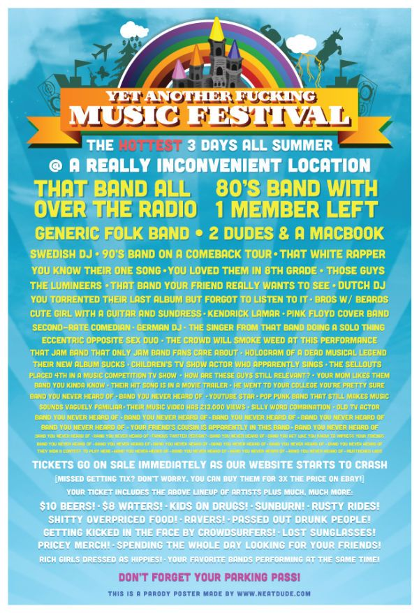 Every music festival poster ever