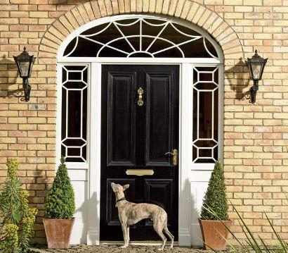 Doric door screen & Hayburn u0026 Co. Doric door screen | Front Door (Leaded Glass ...