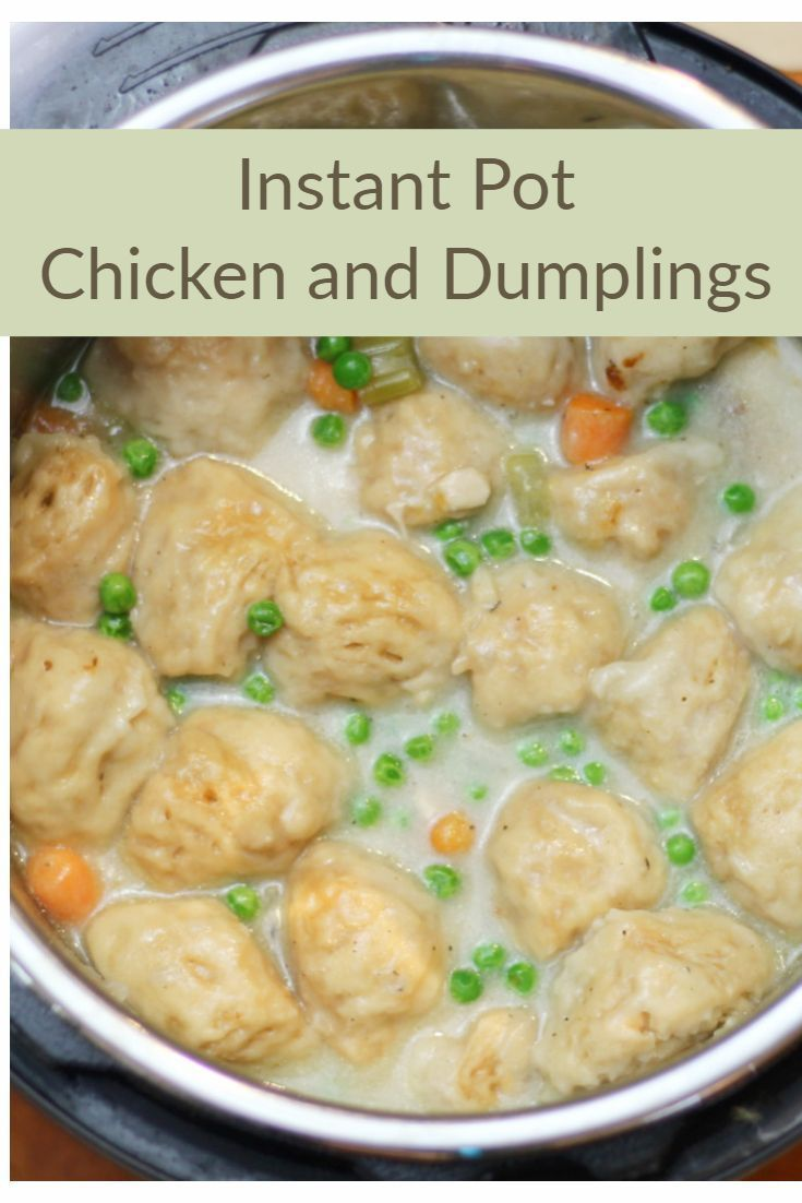 Instant Pot Chicken and Dumplings - Bring real comfort food to your table in less than 30 minutes! #chickendumplingscrockpot