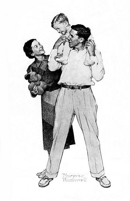 young family - Mass Mutual Life - by Norman Rockwell by x-ray delta one, via Flickr