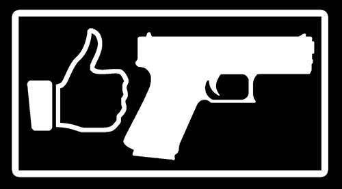 I LIKE GUNS Decal Sticker CalPistolHand GunmmFor Gun - Custom gun barrel stickersgun decals shotgun barrel sticker shooting ammo decal
