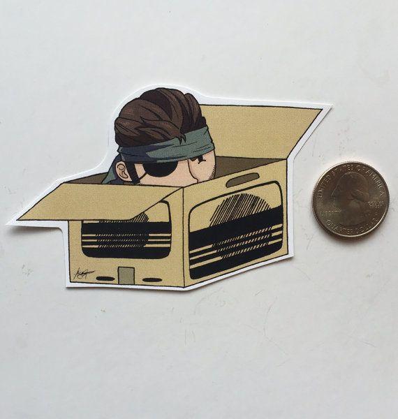 Metal Gear Solid Snake In A Box Sticker In 2020 Metal