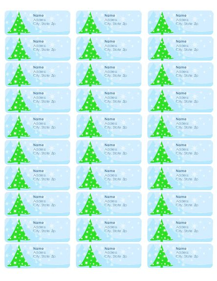 Christmas Return Address Label Templates For Address Labels Per - free address labels samples