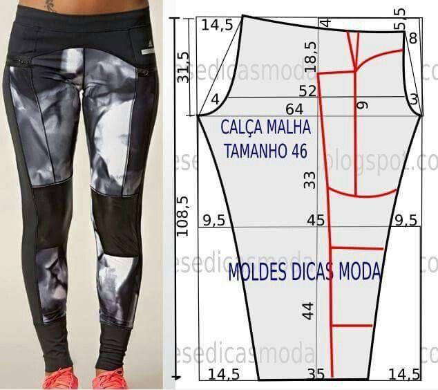 65955db5f Calza deportiva | Moda para mujer | Moldes de pantalones, Patrones ...