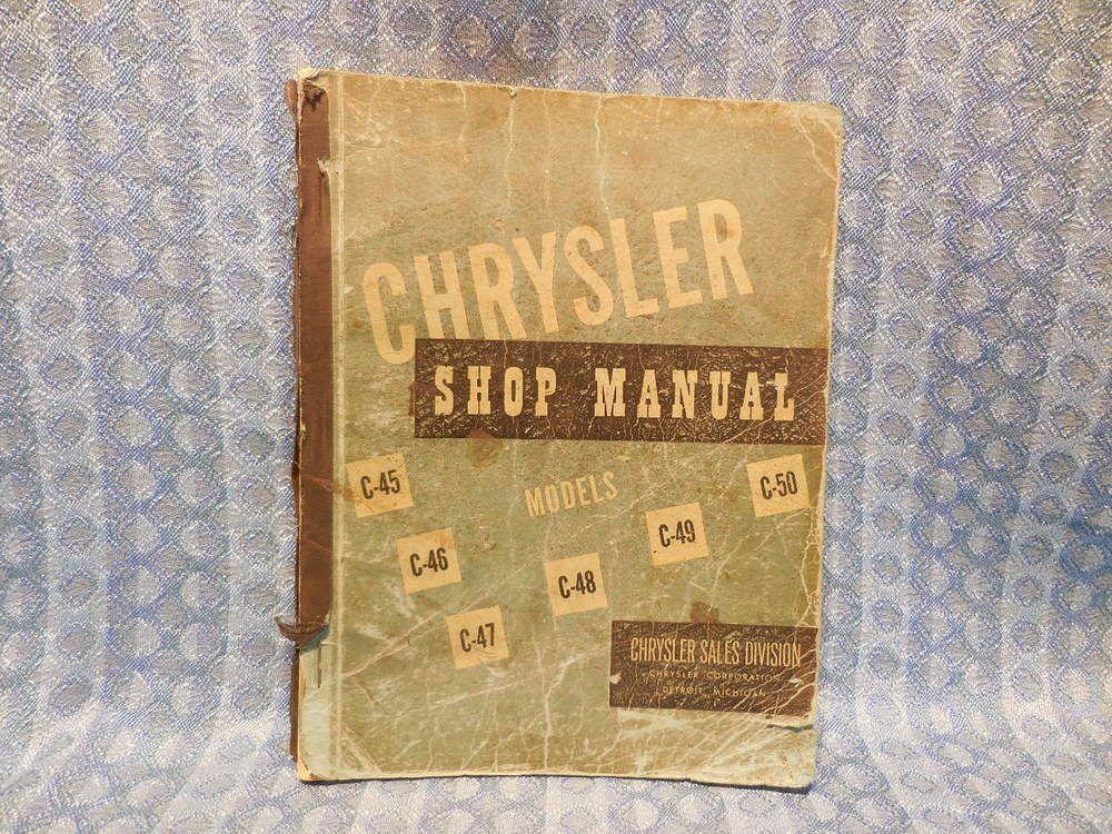 1949-1950 Chrysler ORIGINAL Shop Manual Windsor New Yorker Crown