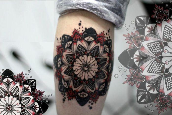 1001 ideen f r mandala tattoo f r m nner und frauen pinterest. Black Bedroom Furniture Sets. Home Design Ideas
