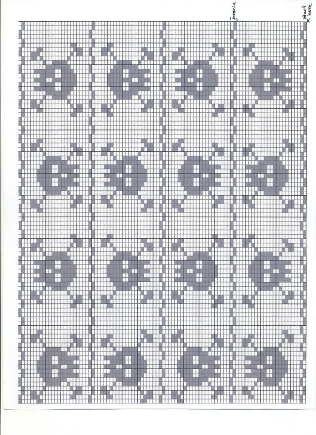 Free Filet Crochet Alphabet Charts | Crochet - Filet, skulls motifs ...