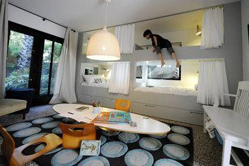 Bunk beds modern living room