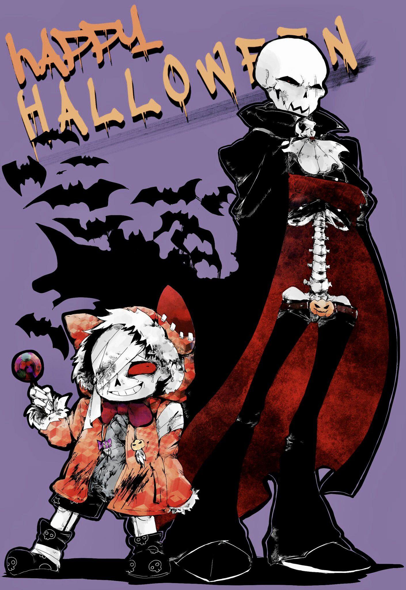 Underfell ~ Vampire Papyrus & Werewolf Sans   Skele-Family