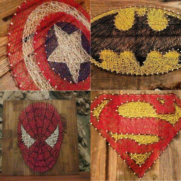 Superhero string art