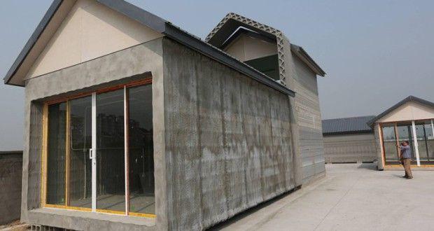 Shanghai WinSun Decoration Engineering Co construit une maison de