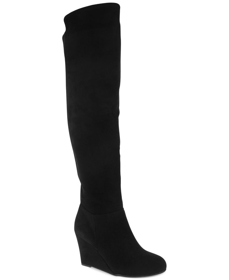 Black wedge boots, Wedge boots