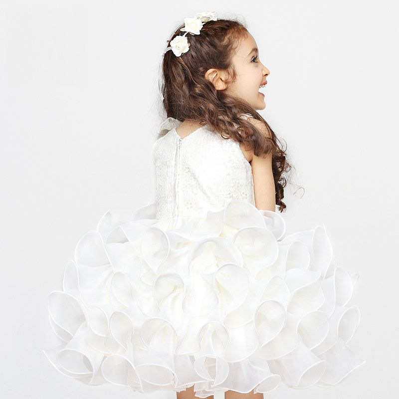Click to Buy << Elegant Girl Princess Evening Dress Wedding Girls ...