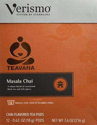 Verismoª Teavana¨ Masala Chai Tea Pods, 12 count - http://teacoffeestore.com/verismoa-teavana%c2%a8-masala-chai-tea-pods-12-count/