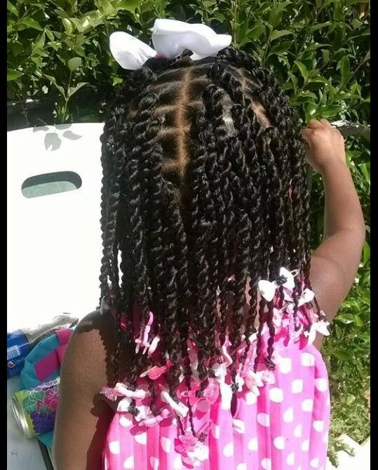 2 strand twist cute simple style | Kids hairstyles, Hair styles, Natural hair styles